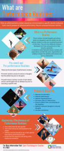 This infographic describes pre-event and pre-performance routines as well as their benefits and effectiveness.